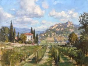 Christine Lashley Tuscany Layers14x18 Oil on Canvas