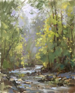 Christine Lashley Upstream 8x10 Oil on Canvas