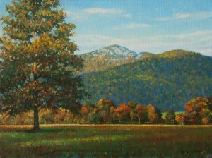 "Bradley Stevens, Old Rag Morning, 18"" x 24"", oil on linen"