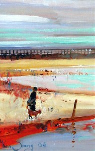 Ken Strong, Cape Charles Low Tide, 15X20, Oil on canvas