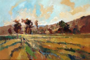 Ken Strong, Sunrise on the Dairy, 36X24, Oil on canvas