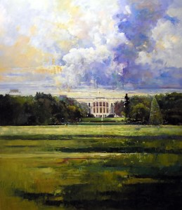 Ken Strong, White House, 48X60, Oil on canvas