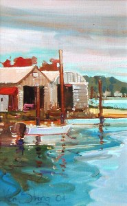 Ken Strong, Willis Wharf, 15X20, Oil on canvas