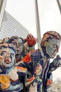 MGM Frey ceramic sculpture installation