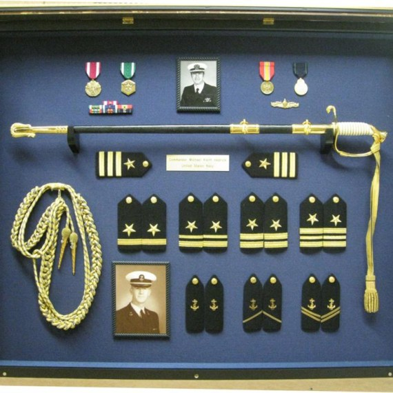 Custom Shadowbox Framing of US Navy Decorations