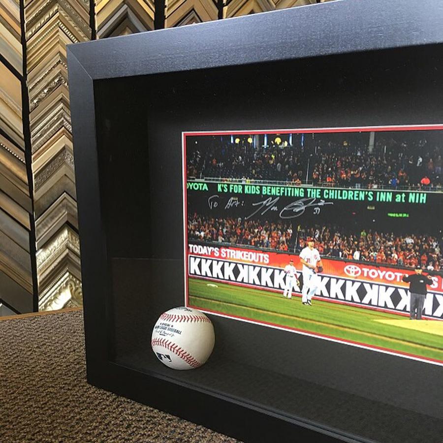 Washington Nationals Baseball - Shadowbox Framing of Record-Breaking Game Memorabilia