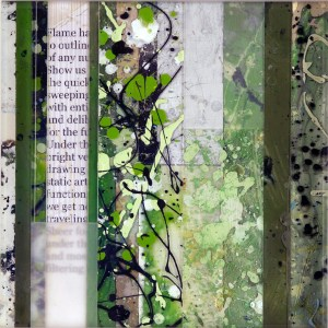 Donald Henry Dusinberre - I Spoke Outside a Dream, and You Answered Inside Yours, 12x12, Mixed Media on Acrylic Glass