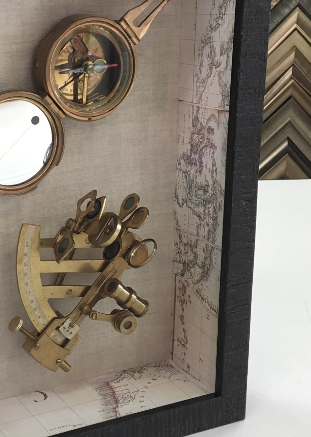 Shadowbox Framing of Compass and Sextant