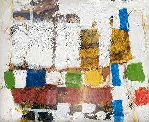 "Buck Nelligan, ""City Lights 1"", 6"" x 7"", Acrylic on Paper"