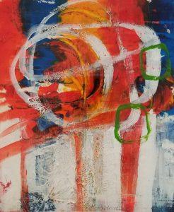 "Buck Nelligan, ""Lollipops"", Acrylic on Paper, 7"" x 6"""