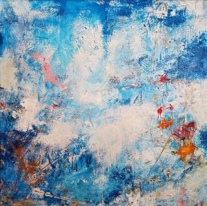 """Buck Nelligan, """"Untitled Abstract 1"""", Acrylic on Canvas, 30"""" x 30"""""""