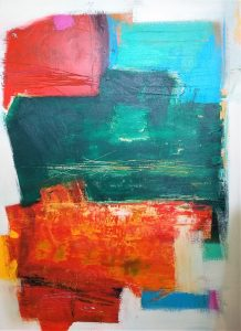 """Buck Nelligan, """"Untitled Abstract 4"""", Acrylic on Canvas, 36"""" x 48"""""""