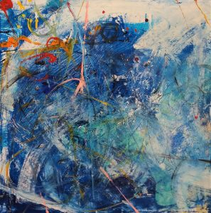 Buck Nelligan Untitled Abstract 5 Acrylic on Canvas 24 x 24 900