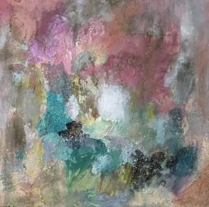 "Courtney Kolker, ""Meridiana"", 24"" x 24"", Mixed Media on Canvas"