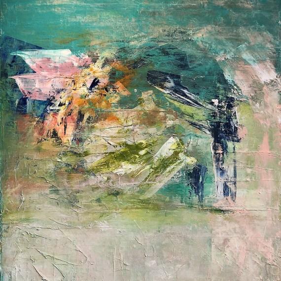 "Courtney Kolker, ""Mezzo"", 60"" x 40"", Acrylic on Canvas"