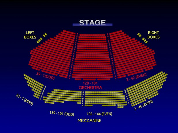 Overture broadway seating chart - Winter garden theater seating chart ...