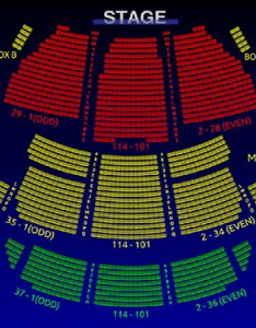 The st james theatre also interactive  broadway seating chart rh broadwayscene