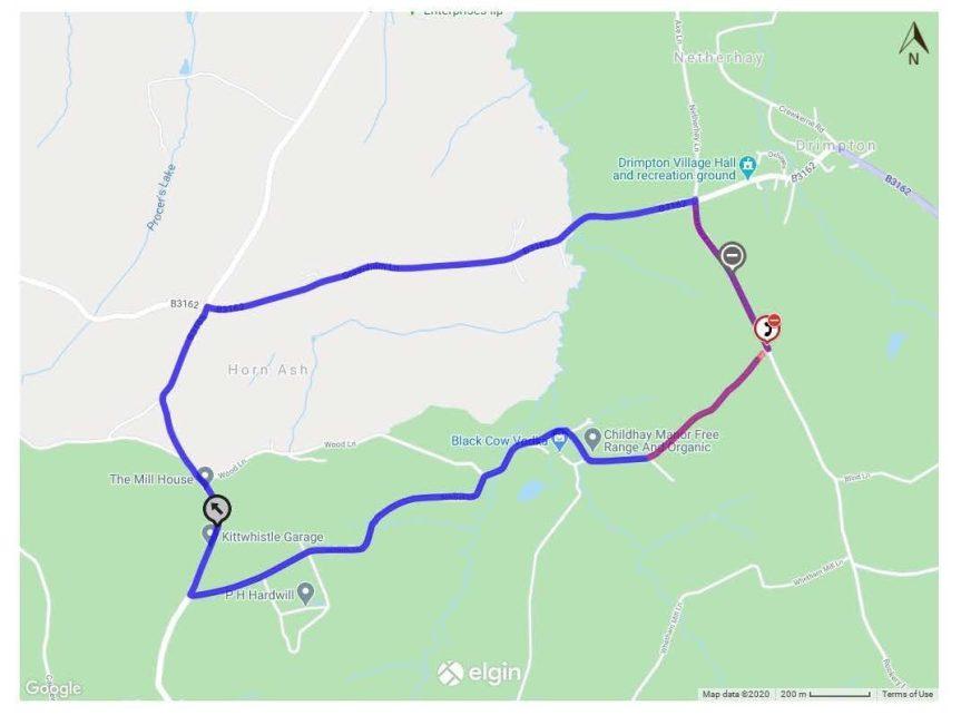 Road Closure at Drimpton – 7th September 2020