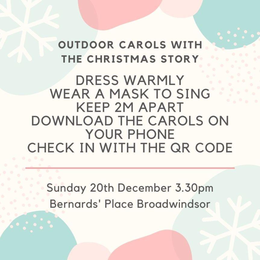 Outdoor Christmas Carols – Tomorrow (Sunday) at 3.30pm