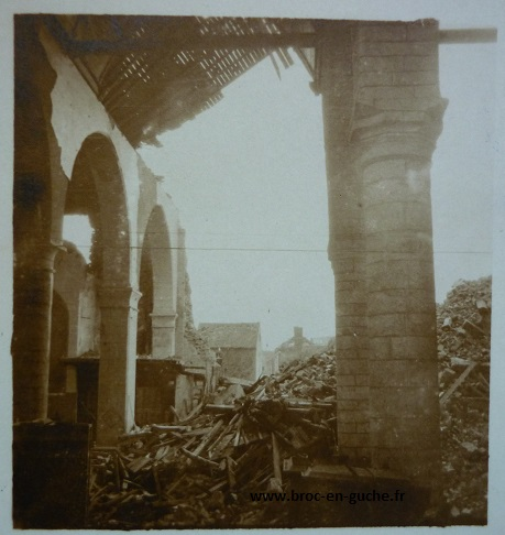 Guerre 19141918  lot de 8 photos de Warneton prises par un soldat allemand  BROC EN GUCHE