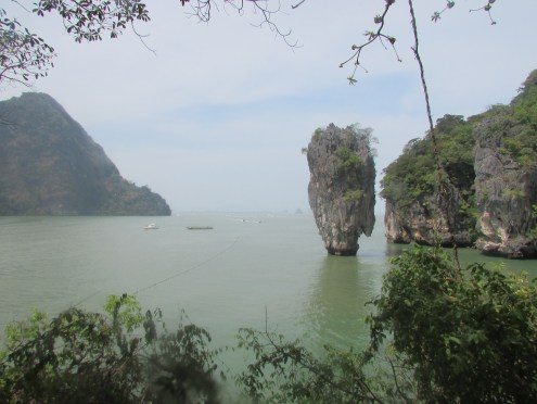 Another view of the famous formation of James Bond Island