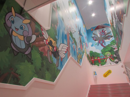 Most of the walls were covered with murals like this!