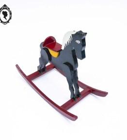 1 Jouet jeux en bois petit cheval à bascule rétro Vintage