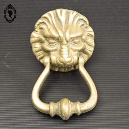 Poignée, heurtoir, heurtoir de porte, heurtoir doré, heurtoir lion, heurtoir bronze, heurtoir laiton, heurtoir vintage, heurtoir ancien,