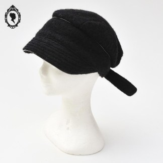 Chapeau, chapeau laine, chapeau chic, chapeau casquette, casquette, casquette noire, casquette laine, casquette laine bouillie, chapeau femme, chapeau élégant, chapeau noir, chapeau femme hiver, chapeau hiver, casquette taille unique, casquette réglable, Angiolo Frasconi, casquette Frasconi, casquette Italie, idée cadeau, casquette hiver, chapeau hiver, idée cadeau maman, idée cadeau femme,