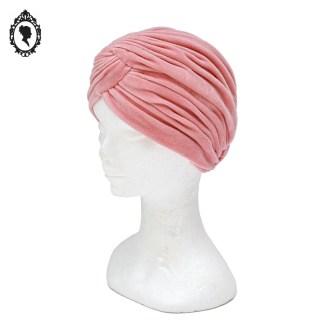 Chapeau, petit chapeau, turban, turban velours, turban vintage, turban velours rose, turban rose, turban neuf, turban chic, accessoire coiffure, accessoire cheveux, turban femme, turban taille unique,