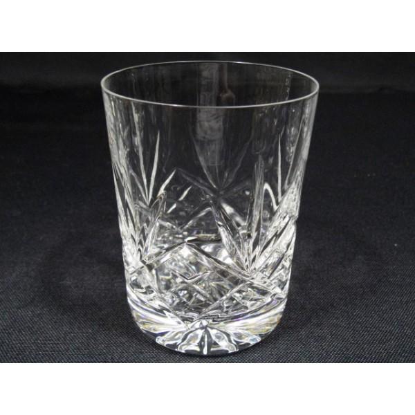 Srie de 5 verres  Whisky en cristal taill  brocante