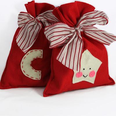 bolsa de fieltro adorno de navidad paso a paso