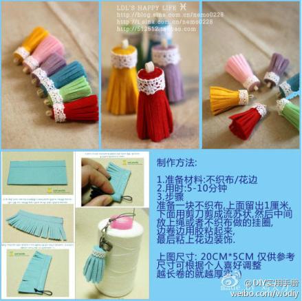Pompones de cortina en fieltro tutorial paso a paso - Como coser unas cortinas ...