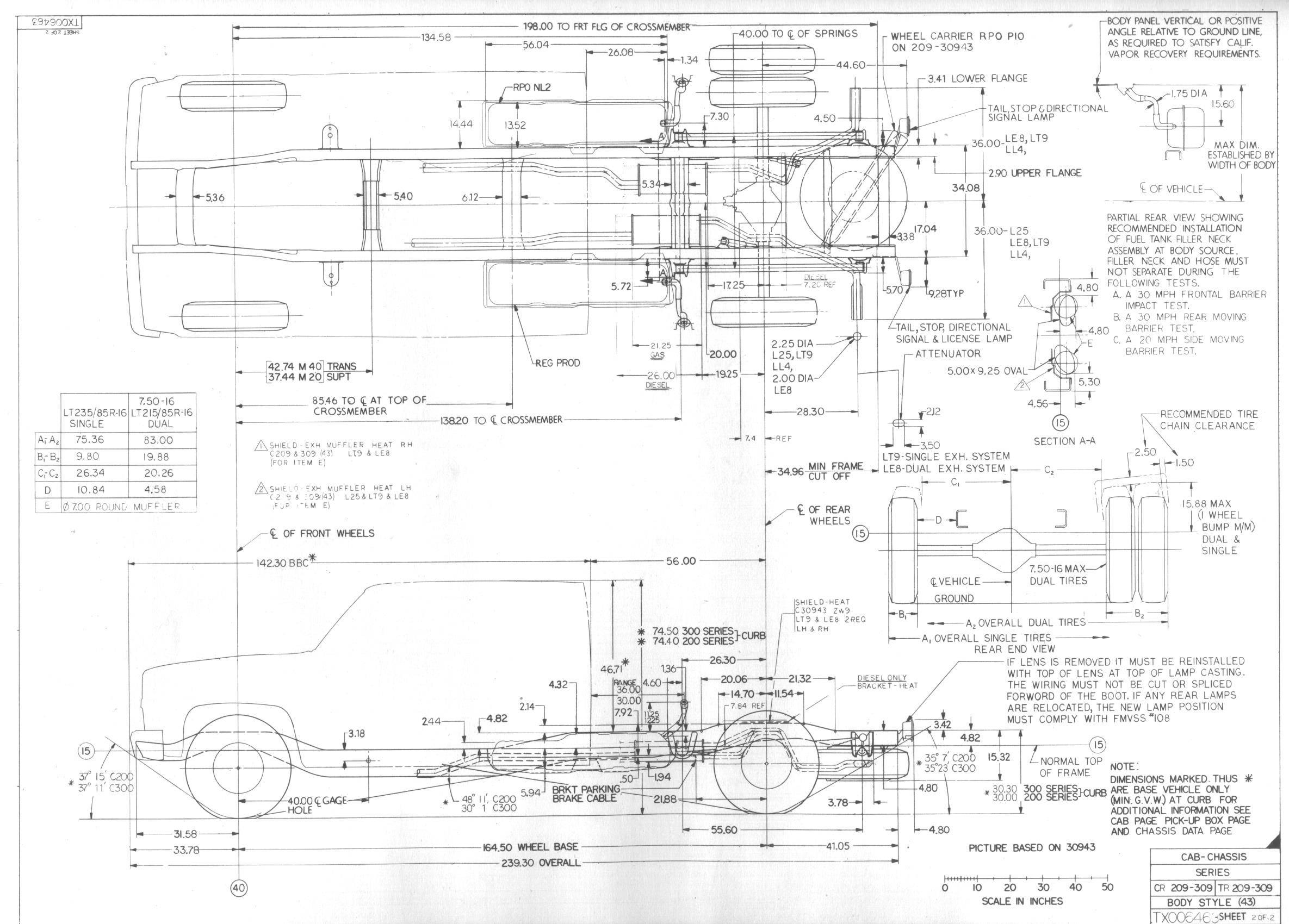 Chevy Truck Frame Dimensions