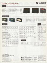 Yamaha Electric Guitars and Basses Catalog 2000