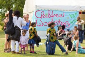 Children's workshop tent at Art In The Park