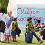 Children's workshop tent at Art In The Park