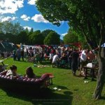 People-watching on Hilly Fields at Brockley Max 2014