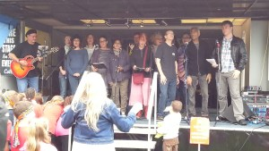 Felix's Rock Choir rehearse at The Ladywell Gallery