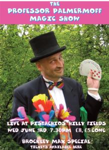 Poster for Professor Palmermoff Magic Show