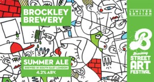 Brockley Street Art Beer label
