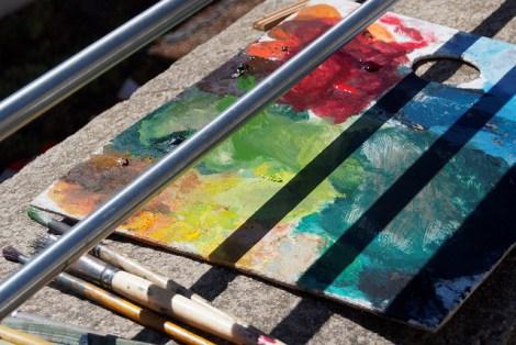 photo of an artist's palette