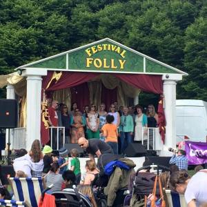 choir on the festival stage