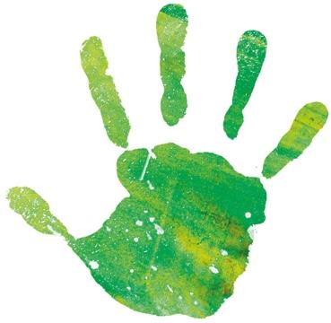 Green Hand Print