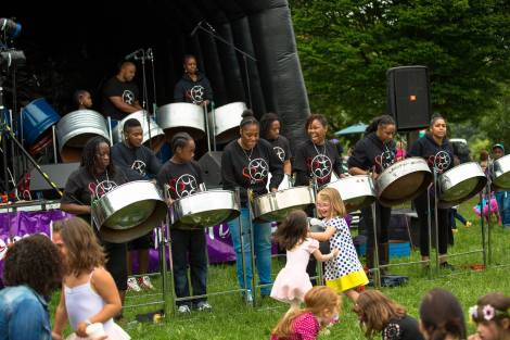 Steel band performance at Brockley Max Art In The Park