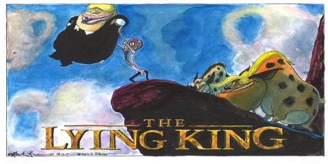 The Lying King: Martin Rowson and Luke Wright assess the state of the nation