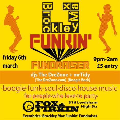 poster for Funky-Fundraiser-for-Brockley-Max