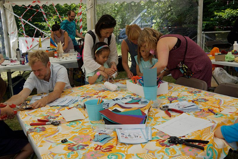 Creative crafting in our magical marquee at Art In The Park