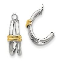 14 karat two tone gold dangle earring jackets - Brocks ...