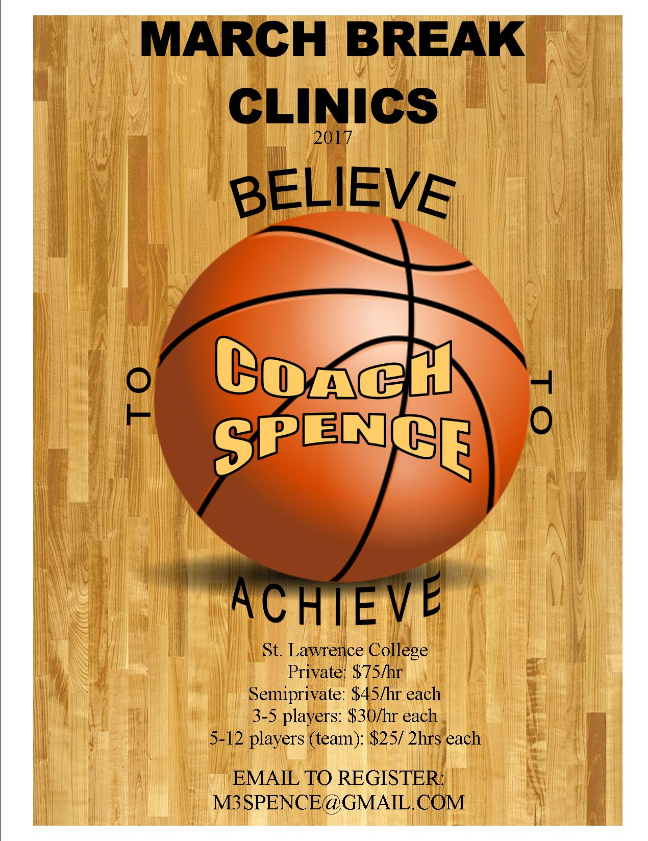 March Break Skills Sessions With Mark Spence